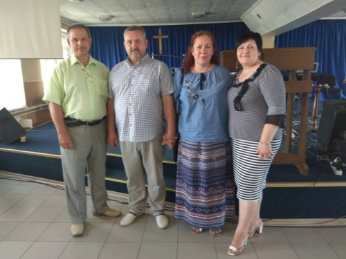Семья Сайченко в гостях.